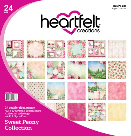 "Heartfelt Creations - 12""x12"" Paper Pad - Sweet Peony Paper Collection"