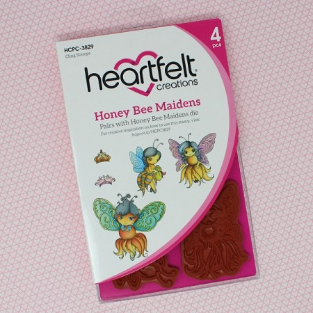 Heartfelt Creations - Sweet as Honey Collection - Honey Bee Maidens Cling Stamp Set