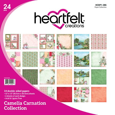 "Heartfelt Creations - 12""x12"" Paper Pad - Camelia Carnation Paper Collection"