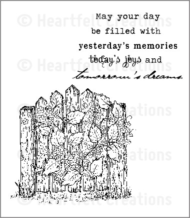 Heartfelt Creations - Cling Stamp - Floral Fence