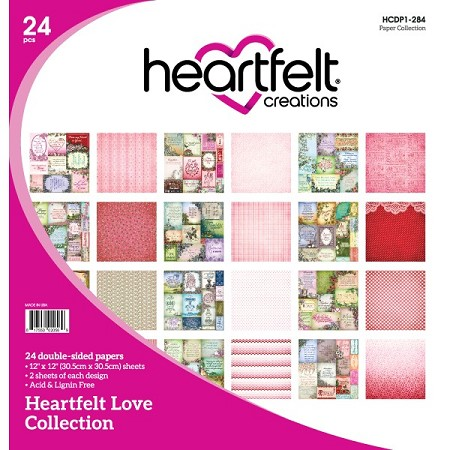"Heartfelt Creations - 12""x12"" Paper Pad - Heartfelt Love Paper Collection"