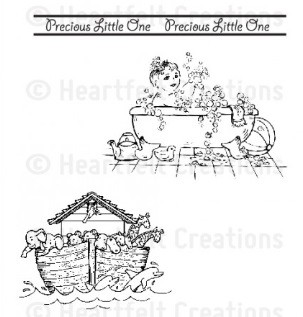 Heartfelt Creations - Sweet Lullaby Collection - Cling Stamp - Precious Lullaby
