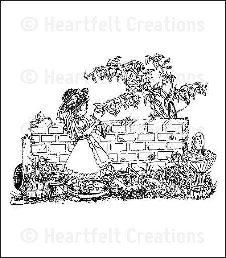 Heartfelt Creations - Romantique Garden Collection - Cling Stamps - Romantique Garden
