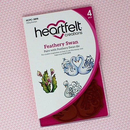 Heartfelt Creations - Calla Lily Collection - Feathery Swan Cling Stamp Set