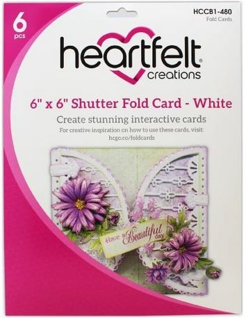 "Heartfelt Creations - 6""x6"" Shutter Fold Cards - White"