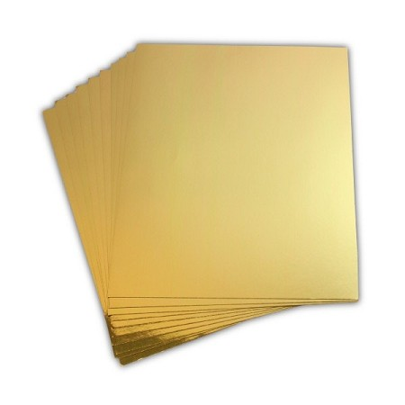 "Heartfelt Creations - Gold Luxe Metallic Cardstock (8.5""x11"" - 12 sheets)"