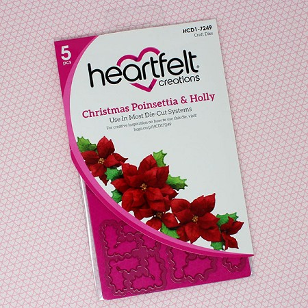 Heartfelt Creations - Cutting Die - Candlelit Christmas Collection - Poinsettia & Holly Die