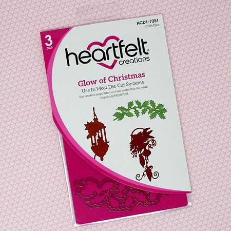 Heartfelt Creations - Cutting Die - Candlelit Christmas Collection - Glow Of Christmas Die