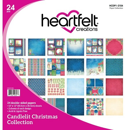 "Heartfelt Creations - 12""x12"" Paper Pad - Candlelit Christmas Paper Collection"