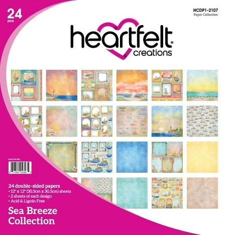 "Heartfelt Creations - 12""x12"" Paper Pad - Sea Breeze Paper Collection"
