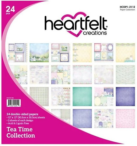 "Heartfelt Creations - 12""x12"" Paper Pad - Tea Time Paper Collection"