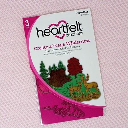 Heartfelt Creations - Cutting Die - Wilderness Retreat Collection - Create A 'scape Wilderness Die