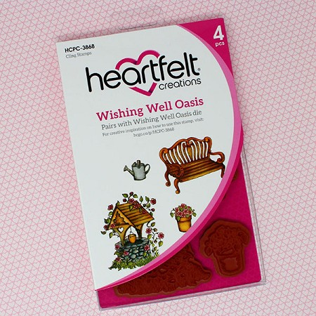 Heartfelt Creations - Cherry Blossom Retreat Collection - Wishing Well Oasis Cling Stamp Set