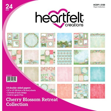 "Heartfelt Creations - 12""x12"" Paper Pad - Cherry Blossom Retreat Paper Collection"