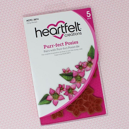 Heartfelt Creations - Purr-Fect Posies Collection - Purr-Fect Posies Cling Stamp Set