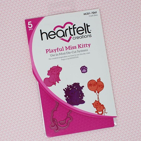 Heartfelt Creations - Cutting Die - Purr-Fect Posies Collection - Playful Miss Kitty Die