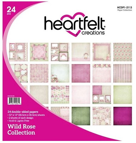 "Heartfelt Creations - 12""x12"" Paper Pad - Wild Rose Paper Collection"
