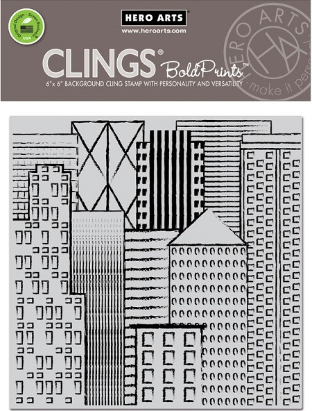 Hero Arts - Cling Rubber Stamp - Abstract Skyline Bold Prints
