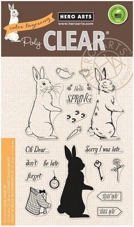 Hero Arts - Clear Stamp - Color Layering Rabbit