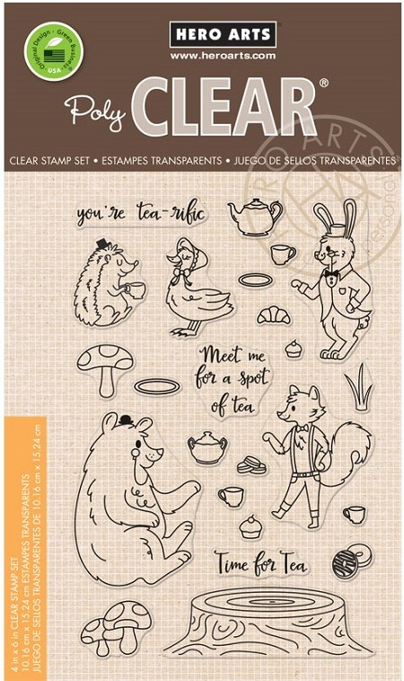Hero Arts - Clear Stamp - Woodland Tea Party