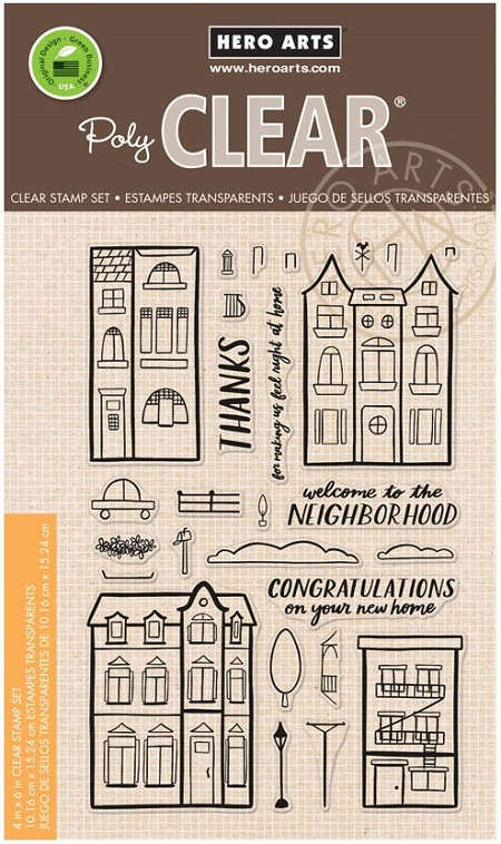 Hero Arts - Clear Stamp - Welcome Neighbor