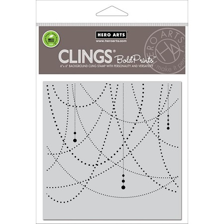 Hero Arts - Cling Rubber Stamp - Garland Bold Prints