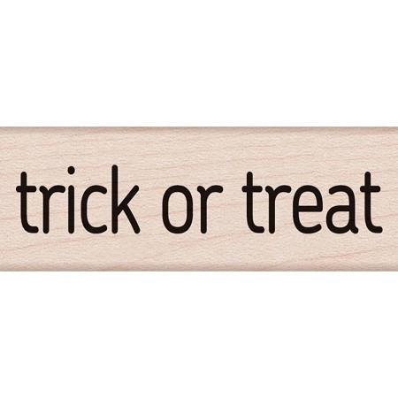 Hero Arts - Wood Mounted Rubber Stamp - Trick Or Treat Message
