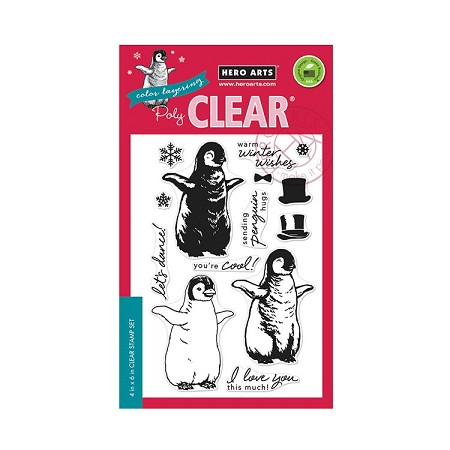 Hero Arts - Clear Stamp - Color Layering Baby Penguin