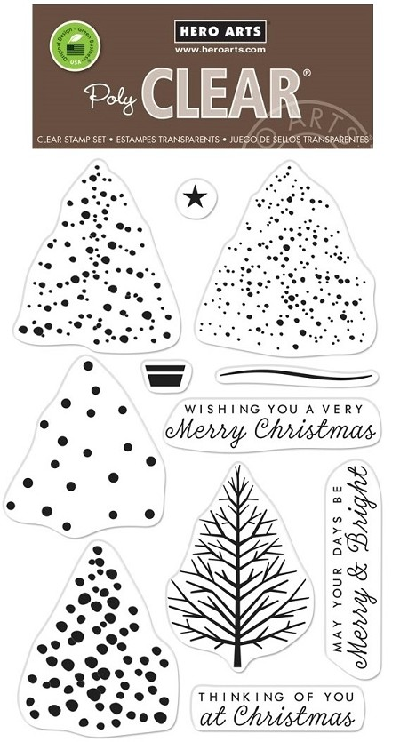 Hero Arts - Clear Stamp - Color Layering Christmas Tree