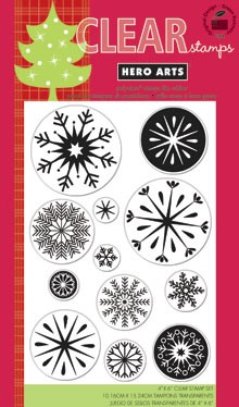 Hero Arts-Clear Stamp-Snowflakes :)