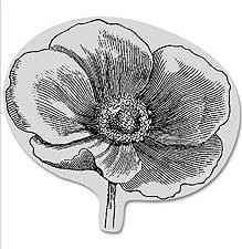 Hero Arts-Cling Rubber Stamp-Engraved Flower :)