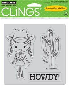 Hero Arts-Cling Rubber Stamp-Howdy :)