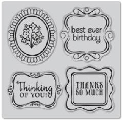 Hero Arts-Cling Rubber Stamp-Framed Messages :)