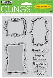 Hero Arts-Cling Rubber Stamp-Frame a Message