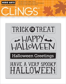 Hero Arts-Cling Rubber Stamp-Halloween Messages