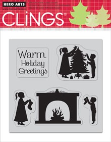 Hero Arts-Cling Rubber Stamp-Warm Holiday Greetings
