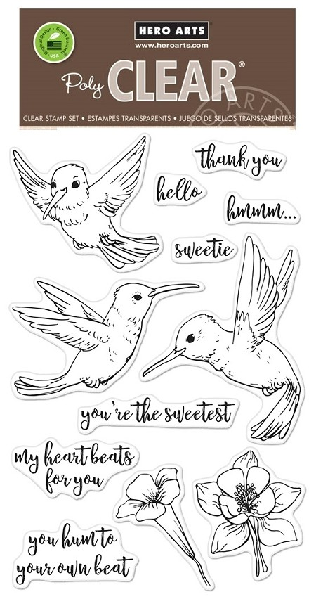 Hero Arts - Clear Stamp - Hummingbirds
