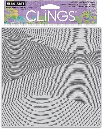 Hero Arts - Cling Rubber Stamp - Ocean Waves Bold Prints