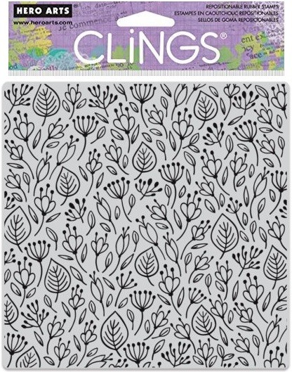 Hero Arts - Cling Rubber Stamp - Flower Garden Bold Prints