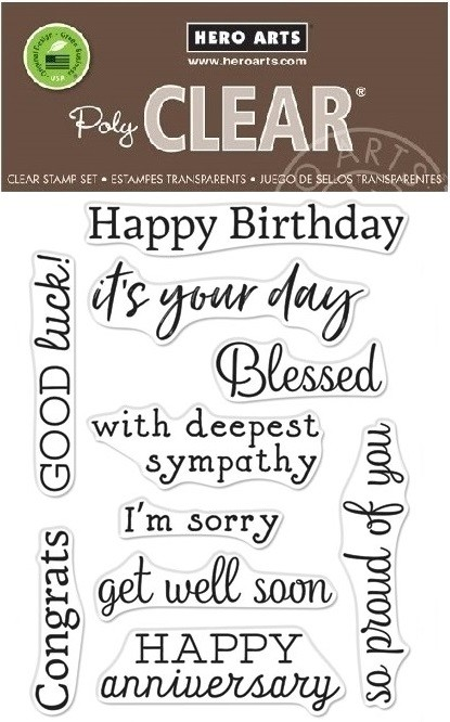 Hero Arts - Clear Stamp - Hero Greetings Occasions