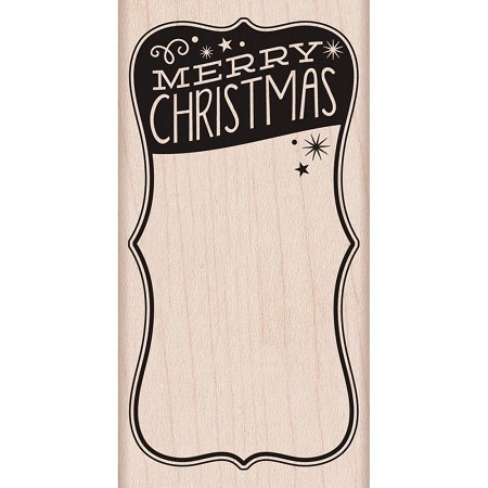 Hero Arts - Wood Mounted Rubber Stamp - Merry Christmas Label :)