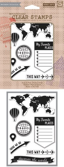 Hero Arts for Basic Grey Carte Postale Collection - Clear Stamp - My Favorite