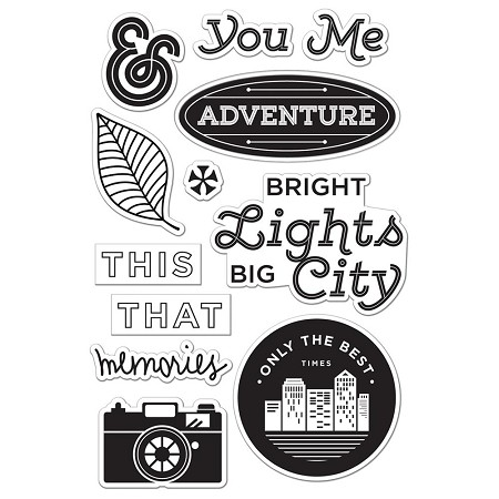 Hero Arts - Clear Stamp - Basic Grey Second City Bright Lights