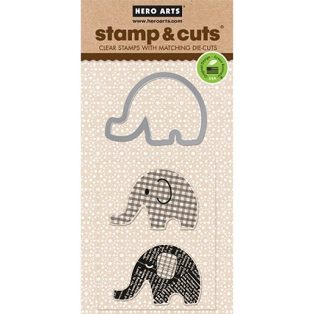 Hero Arts - Stamp & Cut - Elephant