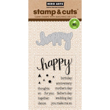 Hero Arts - Stamp & Cut - Happy