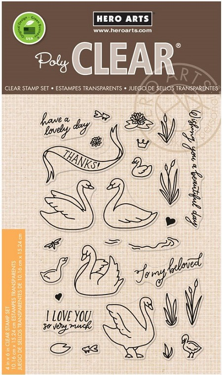 Hero Arts - Clear Stamp - Swans and Cattails