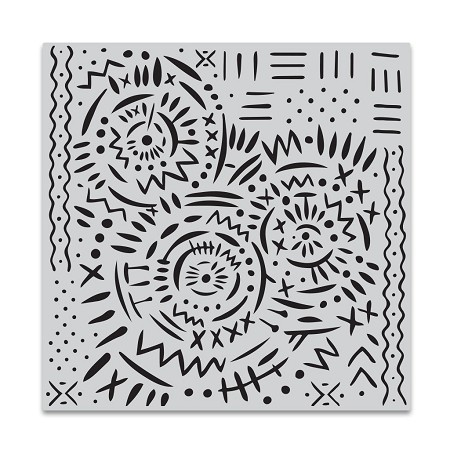 Hero Arts - Cling Rubber Stamp - Mud Cloth Bold Prints