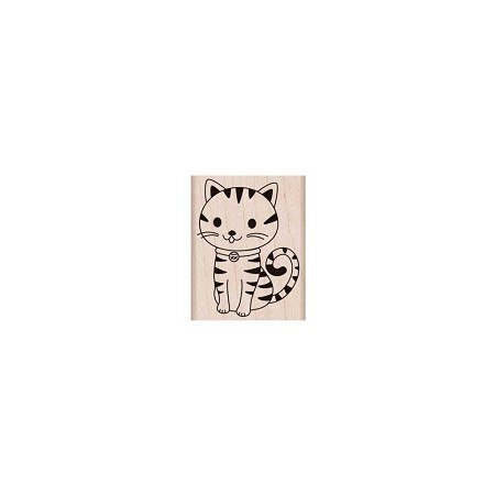 Hero Arts - Wood Mounted Rubber Stamp - Purring Kitty