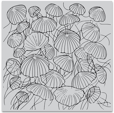 Hero Arts - Cling Rubber Stamp - Jellyfish Party Bold Prints