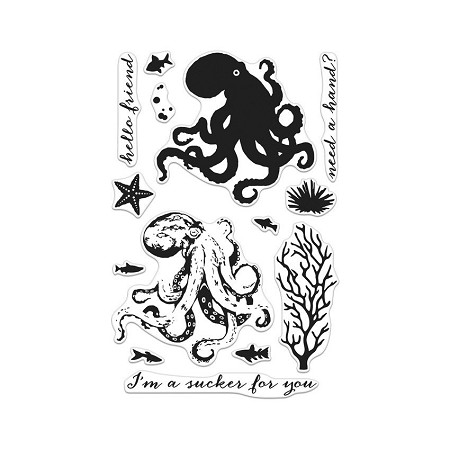 Hero Arts - Clear Stamp - Color Layering Octopus